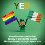 IRELAND SAYS YES!!!!! #MarRef2015 #MarriageEquality http://t.co/QExmq5eYr6