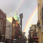 Wow of thats not a sign I dont know what is. A rainbow over Dublin today. http://t.co/m8QFvRIZ1j