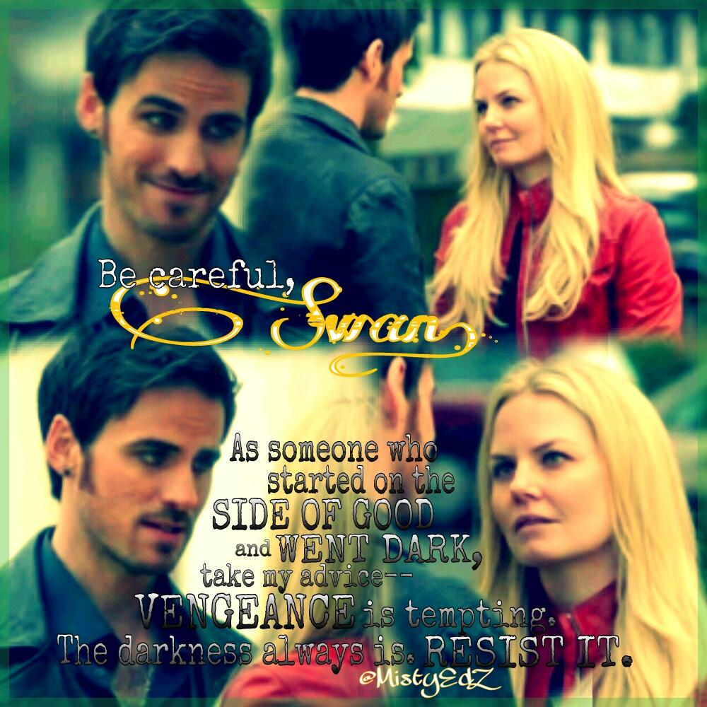 "RT @MistyEdZ: ""Be careful Swan."" 💞💞 #CaptainSwan #OnceUponATime #Lily #EmmaSwan #KillianJones #OUAT #Oncers #superlateupload 🙈🙈 http://t.co/NVr9a2wGbO"
