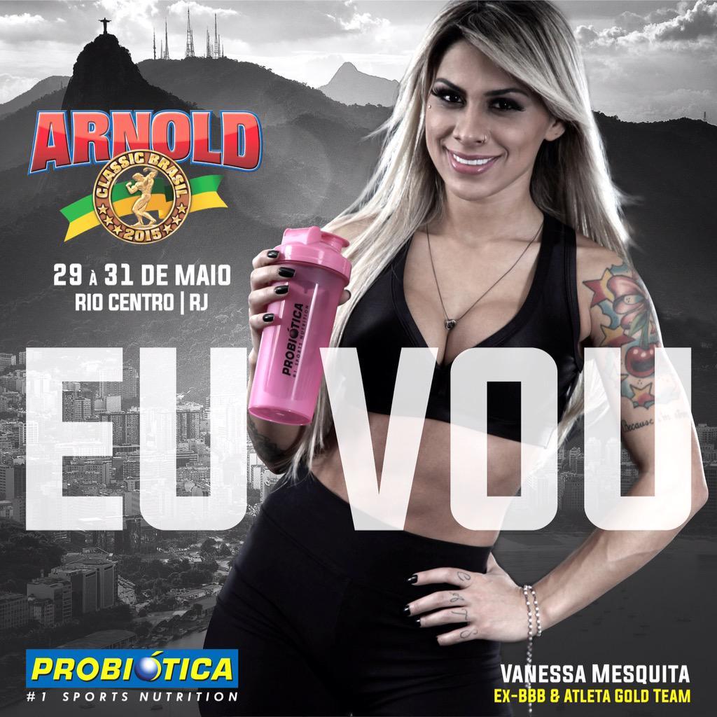 Mais um presença CONFIRMADISSIMA em nosso estande no Arnold Classic Brasil: VANESSA MESQUITA!