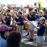 """""""Dont Stop Believin""""! The PAMS band rockin the Pungo Strawberry Festival! http://t.co/GgG7eH9q7T"""