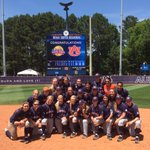 OKC-bound. Tigers celebrate Super Regional sweep of ULL. http://t.co/kfQmJ3p1SI