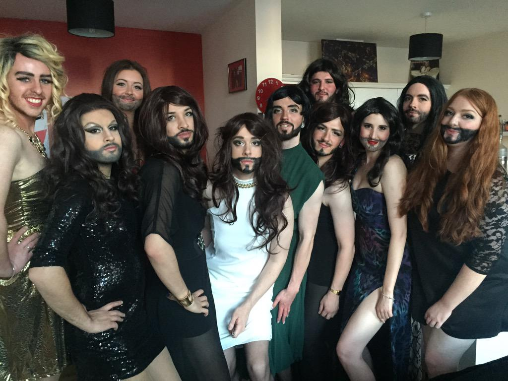 My Eurovision party is better than yours. We love you @ConchitaWurst #Eurovision http://t.co/M6eQWJ73Wf