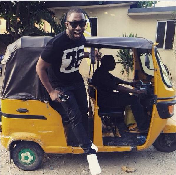 Nigerian Celebrities Now Rocking Bike Due To Fuel Scarcity. http://t.co/qNKWh2x6lS @darey #AintNobodyGotFuelForThat http://t.co/o2BibEDhA7