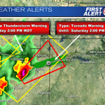 Tornado warning until 2p for Otero and Bent counties. Radar indicated tornado. Take action now. http://t.co/IcOOJ8Gdg7