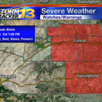 Tornado Warning has been downsized to the southeastern corner of the state. http://t.co/Mp1VbVLHeM
