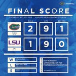 #Gators advance to the SEC Tournament Championship by defeating No. 1 LSU, 2-1 #ItsGreatUF http://t.co/yhp7Ndlzw0