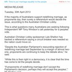 Enjoying digging up these old Australian Christian Lobby press releases calling for a referendum on marriage equality http://t.co/JjmQ85dOOa