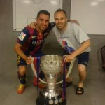 "Tw Iniesta: ""Last league together!! Big thanks for all those years!! Now lets go for whats left!! Força Barça!!"" http://t.co/msaqGDinDs"