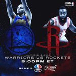 #WARRIORSvROCKETS Game 3 tips off at 9pm/et @ESPNNBA!  #WCF #NBAPlayoffs