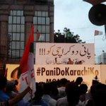 Punjab Celeberating #CricketComesHome-&Karachiates Protesting for Water- #ShameOnRulers #KarachiKoPaniDo #RIPHumanity http://t.co/g6emrr5uya
