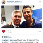Maria Barrena (Istri Ancelotti) berterimakasih kepada Cristiano Ronaldo. #Respect http://t.co/SzobvjQ9zT