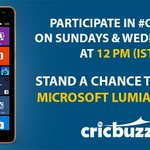 9 hours to go for #IPLFinal but before that we have an exciting #CBQuiz lined up for you! A #Lumia awaits the winner. http://t.co/0FCUtHJNOF