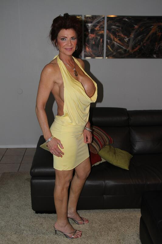 Naughty MILF with shapely boobs Deauxma takes off underwear  344588
