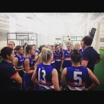 Thanks again for having us @westernbulldogs. Great resolve in this group. Cant wait for Game 2! #AFLWomensGame http://t.co/p50AsoVYHm