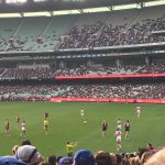 Great shot of the MCG from our Welcome to Melbourne hosts & students at the @melbournefc vs. @westernbulldogs game. http://t.co/TxgqTse3Ti