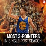 Congrats @StephenCurry30—most 3-pointers in a single postseason! #NBAPlayoffs http://t.co/ixZIVO5qBt