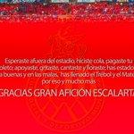 """""""@Rojos_Municipal: ¡Gracias afición ROJA! http://t.co/y9dYjd2YXj"""" @solecito_ortega"""