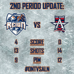 The Reign score three goals in the second period to lead 4-0. #ONTvsALN #ReignTrain http://t.co/Wfki6h66tj