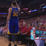 Just STOP it! Steph Curry is on FIRE and he cant be stopped. Warriors lead Rockets, 74-50, in 3rd quarter. http://t.co/lfqqIgtYDT