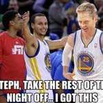 Warriors beginning the fourth quarter: http://t.co/FYwjG946Yu