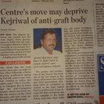 Central Govt wants to take over Delhi ACB; how scared are they by AAP govts crusade against corruption in Delhi? http://t.co/8gpx8DSMTK