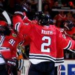 GAME OVER. @NHLBlackhawks win in 2OT. #StanleyCup #ANAvsCHI http://t.co/vMSqnUlbzC