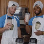 "Watch this HILARIOUS video of @Edelman11 and @ShaneVereen34 making ""friendship smoothies."" http://t.co/mkRM03mBrN http://t.co/nbNOHIGG1o"