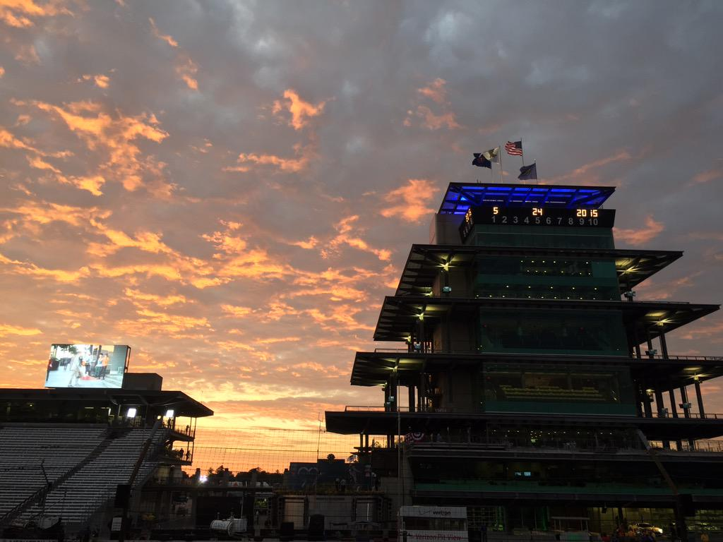 .@ims in the morning is a pretty magical place #Indy500 http://t.co/iH2gjV1NmI