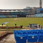 The Eden Gardens, Kolkata in all readiness for the #IPLFinal 2015 #CSKvMI #IPL http://t.co/df8T6sBrld