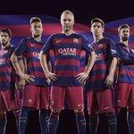 Voici les maillots 1 (home) et 2 (away) du @FCBarcelona pour la saison 2015-2016. ➡️@beinsports_FR @nikefootball http://t.co/f35tosa8wn