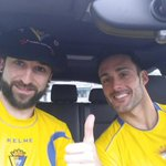 Salimos de Bilbao para arropar al @Cadiz_CF en su camino a segunda. FORZA CÁDIZ! ???????????????? #OviedoAmarillo #roadtooviedo http://t.co/fpwo8Suf0e