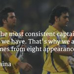 Praises from team-mate @ImRaina for @msdhoni ahead of the #IPLFinal. http://t.co/033xhFdQjS