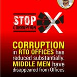 Corruption in RTO offices has reduced substantially. #100DaysOfGovernance http://t.co/ex5ktlHiMg