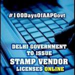 Delhi govt to issue stamp vendor licenses online. #100DaysOfGovernance http://t.co/BO5QWZWwn1