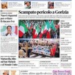 Buona domenica a tutti La #primapagina de @il_piccolo #Trieste #Gorizia con la sovracoperta sulla #GrandeGuerra http://t.co/9GuMRXDFlG