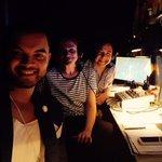 Eurovision Semi Final 1 @GuySebastian in commentary box. I think @julia_zemiro appreciated the break. #SBSEurovision http://t.co/8XAOOn1rnT