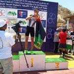 """البطل الليبي """"عبد الرحيم السيفاو"""" يحصد الميدالية الذهبية للبطولة الأفريقية للعبة """"الترايثلون"""" (سباحة -دراجات-عدو) .. http://t.co/aVlsM0OVvA"""