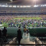 A fantastic @MCG tradition. Kick to kick after the game. Just love it! So much better after a @melbournefc win! http://t.co/m9M7dMsPNY