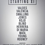 United starting XI: Valdes, Valencia, Smalling, Jones, Rojo, Blind, Herrera, Di Maria, Mata, Young, Rooney. #mufclive http://t.co/feRVdFQtBe
