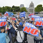 15,000 protesters gather outside #Japans Diet to oppose relocation of US base to #Henoko: @kyodo_news #Okinawa http://t.co/WUhAhOh7j2