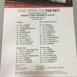 Here are your confirmed teams for @Arsenals final @premierleague game of the season #AFCvWBA http://t.co/g7SYQd7ELS