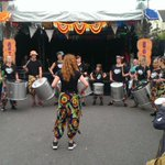 The @SWICACarnival pop up getting their drum on #artcarbootique http://t.co/eWbCUtuqyu