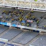 A afición cadista va ocupando su lugar en el Carlos Tartiere. Queda 1h 40m.#OviedoAmarillo http://t.co/KIwUW9D5oW