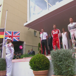 Lewis Hamilton looking heartbroken standing on the podium in third place. http://t.co/fPwrqBzAWI #MonacoGP http://t.co/b3MEBqrKOF