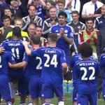Didier Drogba is forced off with an injury, and his Chelsea team-mates carry him off on his last #CFC game. Sky 1. http://t.co/V5AEIl6fiq