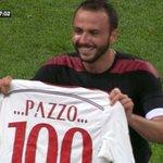 #MilanTorino 2-0, #Pazzini festeggia così la sua centesima rete http://t.co/gHxeIpSTFP http://t.co/uLBvn6340E