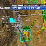 Tracking storms moving ENE through El Paso Co. Heavy rain, lightning and small hail possible. #cowx http://t.co/zrRHqATBYK