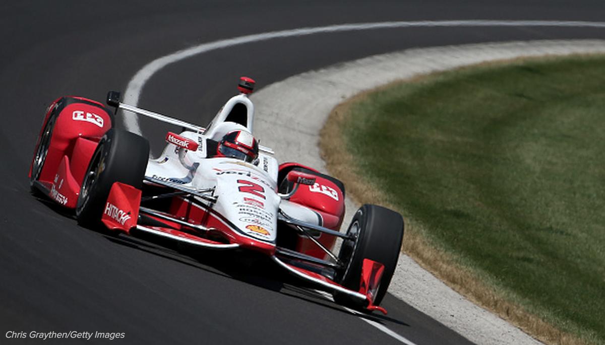 Checkered Flag! Juan Pablo Montoya wins the 2015 Indianapolis 500