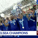 .@ChelseaFC have lifted the @premierleague trophy overnight - defeating @SunderlandAFC in their final match. #9News http://t.co/McDAmEjppd